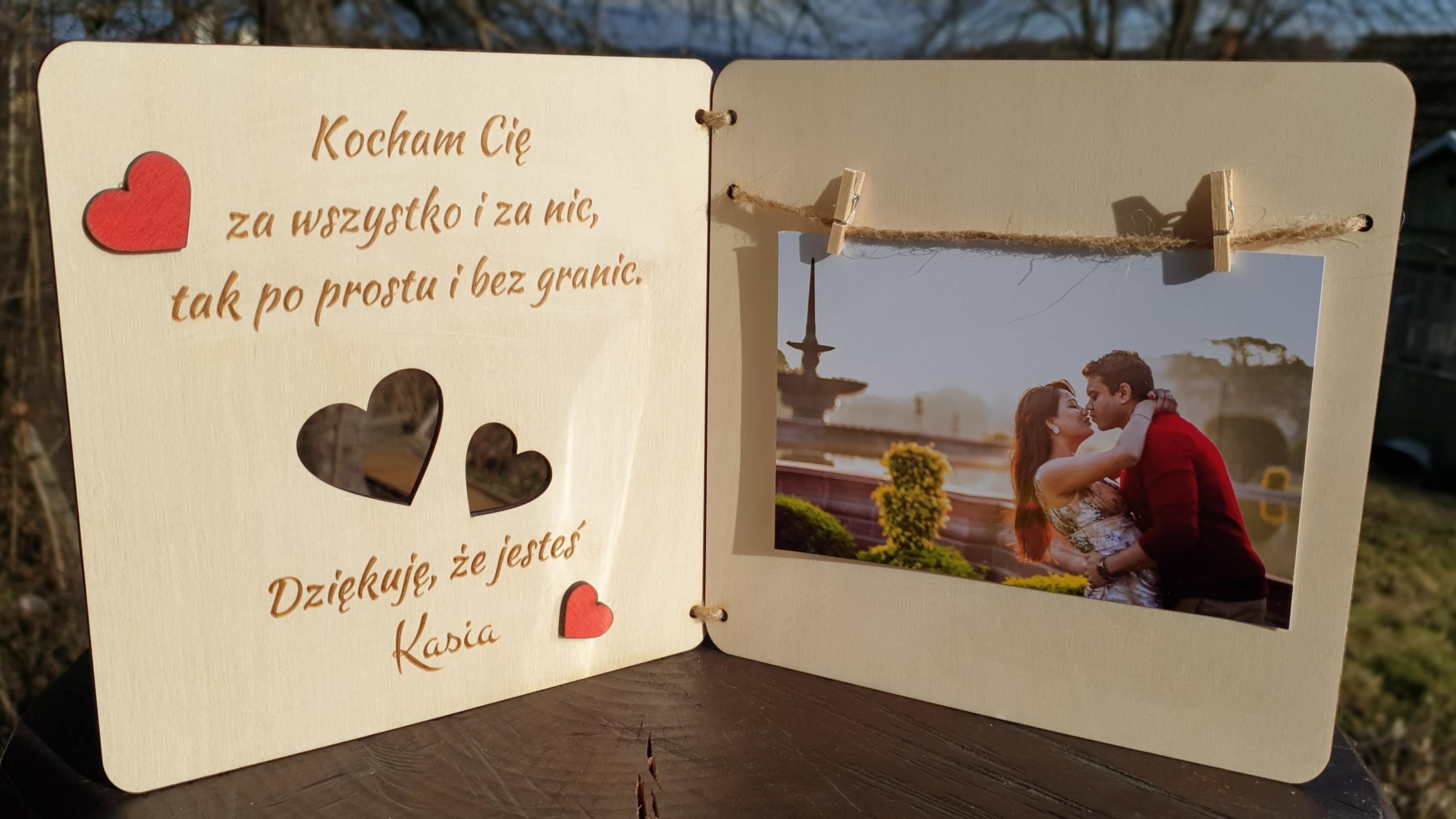 Ramka Na Zdjecie Walentynki Prezent Dzien Chlopaka