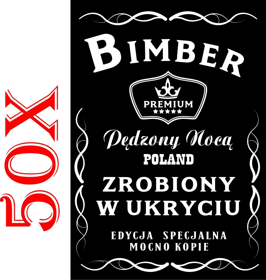 50 Etykiety Na Bimber Wodke Naklejki Alkohol
