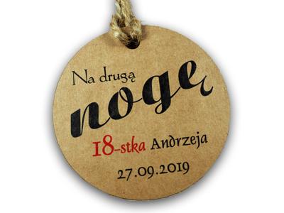 Zawieszki Alkohol Wódkę Smieszne Eko Urodziny 30x